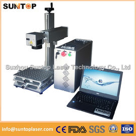 Cina 20W portable fiber laser marking machine for plastic PVC data matrix and barcode pemasok