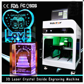 Cina 3D Crystal Laser Inner Engraving Machine 2000HZ speed 120,000 dots / Minute pemasok